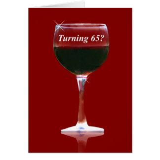 Funny Turning 65 Birthday Wine Card