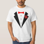 Funny Tuxedo [red bow] Tee Shirt