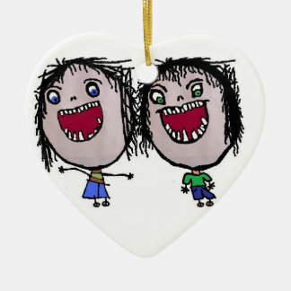 Funny Twin Christmas Christmas Ornament