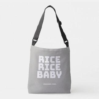 Funny typographic misheard song lyrics crossbody bag