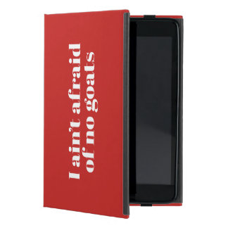 Funny typographic misheard song lyrics iPad mini case