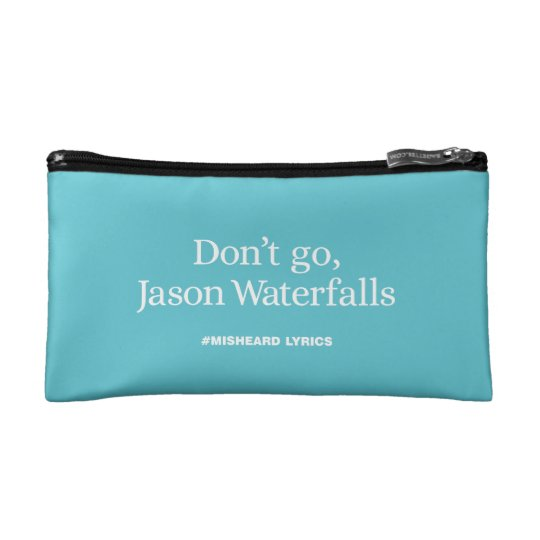 Funny typographic misheard song lyrics makeup bag