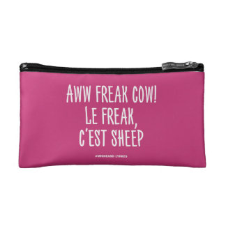 Funny typographic misheard song lyrics makeup bags