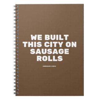 Funny typographic misheard song lyrics note book