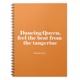 Funny typographic misheard song lyrics note books
