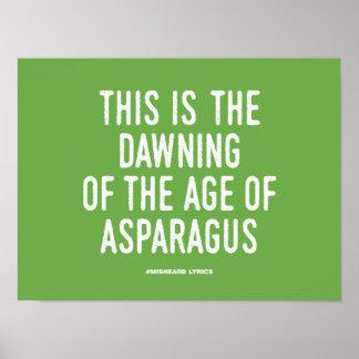 Funny typographic misheard song lyrics poster