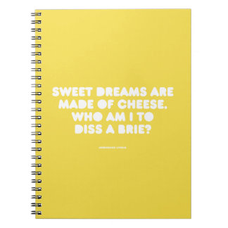 Funny typographic misheard song lyrics spiral notebook