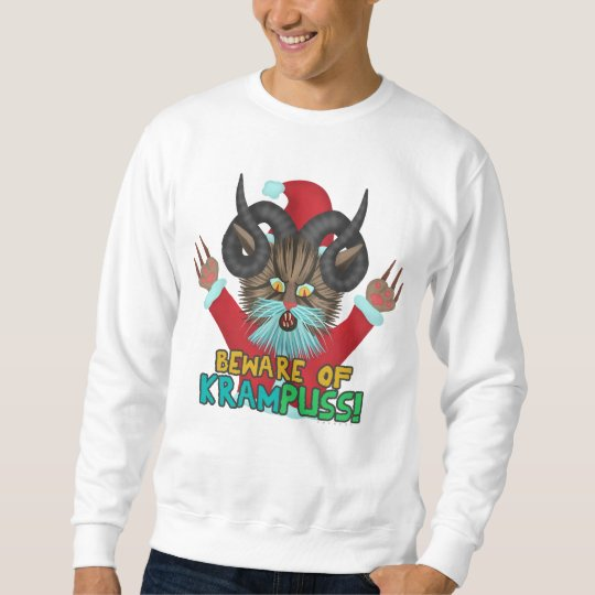 Funny Ugly Christmas Krampuss Cat Holiday Humour Sweatshirt