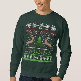 Funny Ugly Christmas Sweater Theme Pull Over Sweatshirts