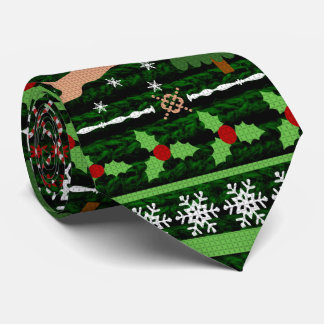Funny Ugly Christmas Sweater Tie