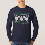 Funny! Ugly Holiday T-Rex Sweater T-shirts
