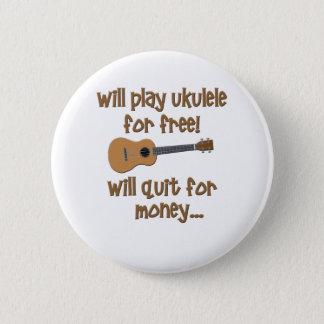 Funny Ukulele 6 Cm Round Badge
