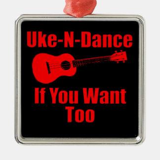 funny ukulele christmas ornament