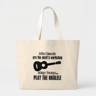 Funny ukulele designs bag