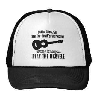 Funny ukulele designs hats