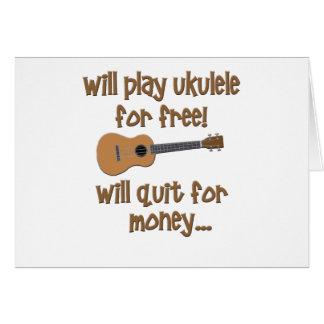 Funny Ukulele Greeting Card