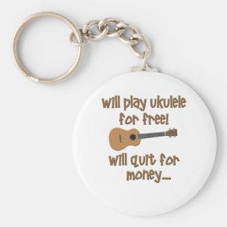 Funny Ukulele Key Ring