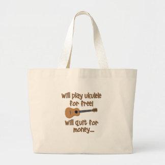 Funny Ukulele Large Tote Bag
