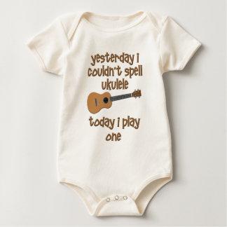 funny ukulele uke baby bodysuit