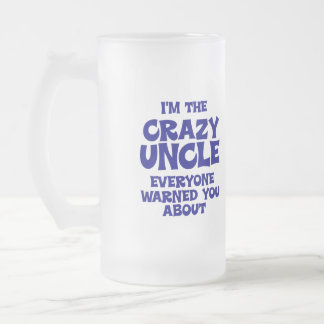 Funny Uncle Gift Frosted Glass Beer Mug