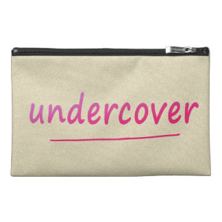 Funny Undercover Shiny Pink Text on any Color Travel Accessories Bags