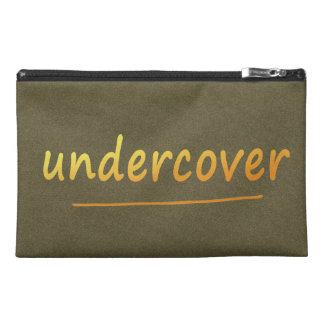 Funny Undercover Shiny Text Golden on any Color Travel Accessory Bags