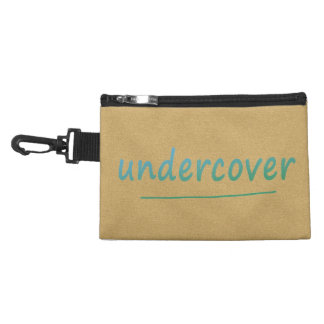 Funny Undercover Shiny Turqoise Text on any Color Accessories Bag
