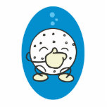 funny underwater golf ball holding its nose acrylic cut out