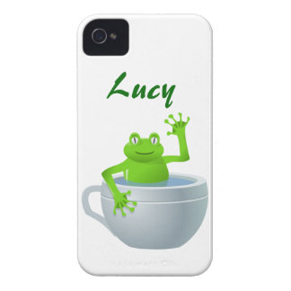 Funny Unexpected Frog in My Tea Cup iPhone 4 Cover