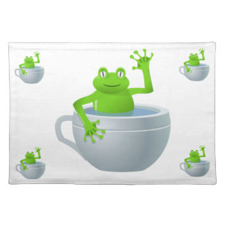 Funny Unexpected Frog in My Tea Cup Placemat