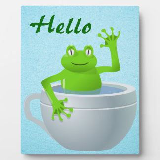 Funny Unexpected Frog in My Tea Cup Plaque