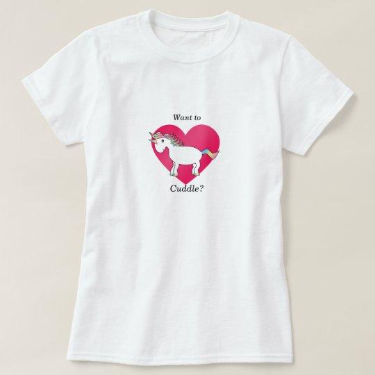 Funny unicorn cuddle T-Shirt