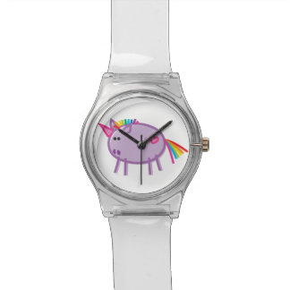 Funny Unicorn on White Watch