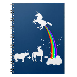 Funny unicorn origin spiral notebook