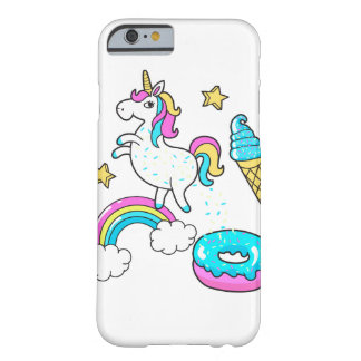 Funny unicorn pooping rainbow sprinkles on donut barely there iPhone 6 case