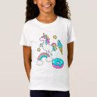 Funny unicorn pooping rainbow sprinkles on T-Shirt