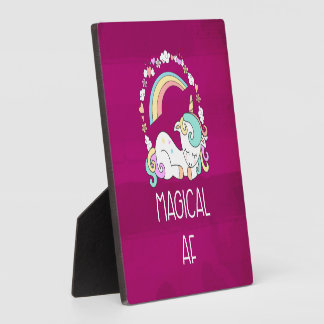 Funny Unicorn Saying Magical AF Plaque
