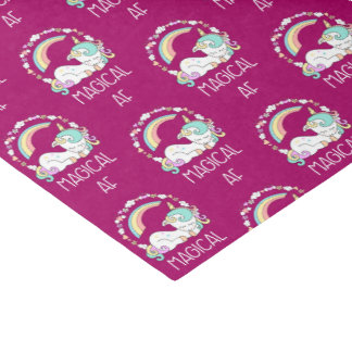 Funny Unicorn Saying Magical AF Tissue Paper