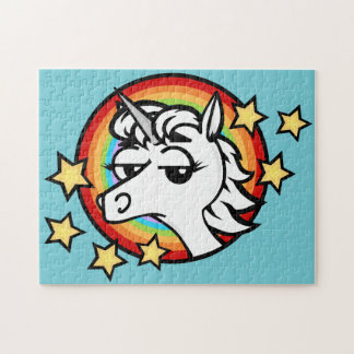 FUNNY UNICORN WITH RAINBOW PUZZLE