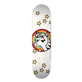 FUNNY UNICORN WITH RAINBOW SKATEBOARD