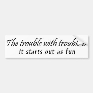 Funny unique birthday gifts joke gift humor car bumper sticker