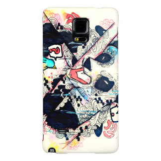 Funny urban angry mad panda watercolor art galaxy note 4 case