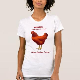 Funny Urban Chicken Farmer Red Hen T-Shirt