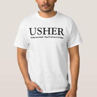 Funny Usher Customizable Wedding Party Shirt