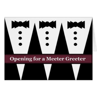 FUNNY Usher Invite with Three Tuxes Greeting Cards