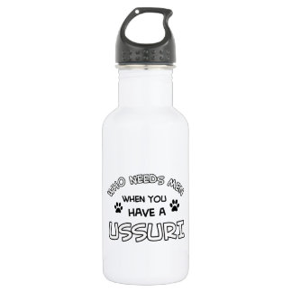 Funny ussuri designs 532 ml water bottle