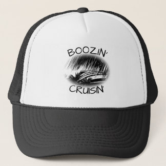Funny Vacation Cruise Booze | Nautical Ship Theme Trucker Hat