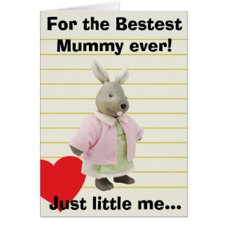 Funny Valentine Day Bunny Greeting Card