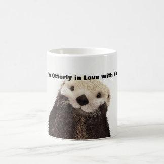 Funny Valentine Day Otter Basic White Mug