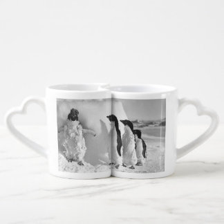 Funny Valentine Day Penguins Coffee Mug Set